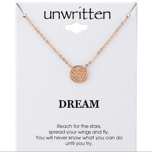 NWT Unwritten Pendant Necklace
